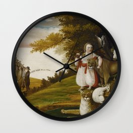 A Peaceable Kingdom with Quakers Bearing Banners - © Doc Braham; All Rights Reserved. Wall Clock