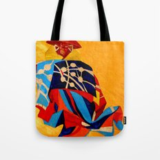 japanese men in traditional clothes Tote Bag