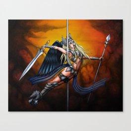 Pole Creatures: Valkyrie Canvas Print