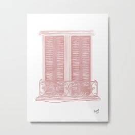 Blush Balcony Metal Print
