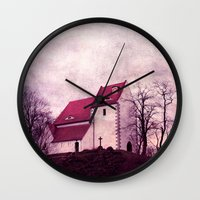 faith Wall Clocks featuring faith by Claudia Drossert