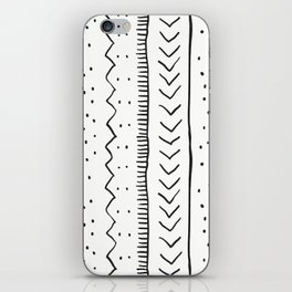 Moroccan Stripe in Cream and Black iPhone Skin