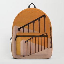 Yellow House-Iron Balcony-Straight Lines Backpack