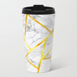 Abstract Marble-Zero Opacity Metal Travel Mug