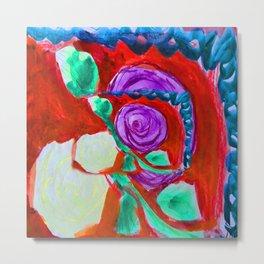 Roses Series Paintings Metal Print