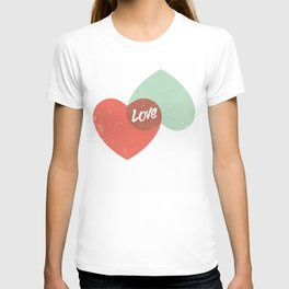 Two lovely hearts T-shirt