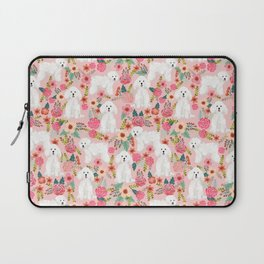 Bichon Frise must have gifts for dog lover bichon owner cute dog portrait Laptop Sleeve
