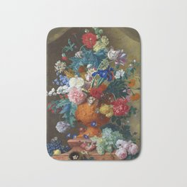 "Jan van Huysum ""Flowers in a Terracotta Vase"" Bath Mat"