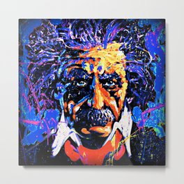 Einstein In Thought Metal Print