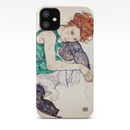 Egon Schiele - Seated Woman with Bent Knee iPhone Case