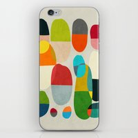 pills iPhone & iPod Skins featuring Jagged little pills by Picomodi