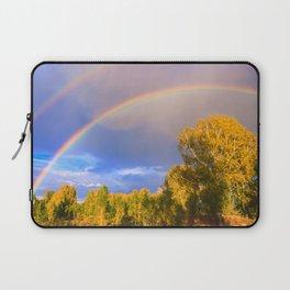 Double rainbow in autumn Laptop Sleeve