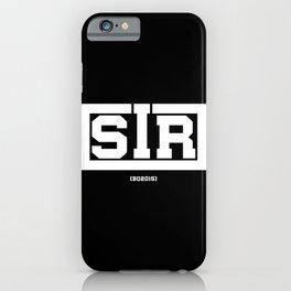 Sir - BQ iPhone Case