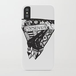 Psychoville black ink drawing iPhone Case