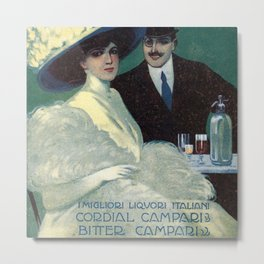 Vintage 1910 Campari Advertisement by Gian Emilio Malerba Metal Print