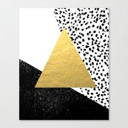 Rexa - gold abstract minimal tribal glitter triangle geometric art cell phone case brooklyn austin  Canvas Print
