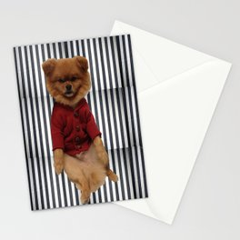 Dog Pepe black and white stripes Stationery Cards