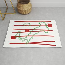 Italy Map Rug