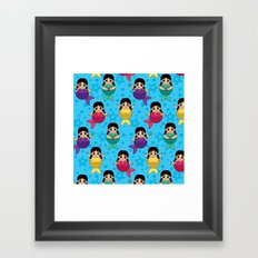 Chubby Mermaids Framed Art Print