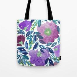 hand painted flowers_1b Tote Bag