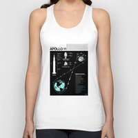 apollo Tank Tops featuring Apollo 11 Mission Diagram by Nick Wiinikka