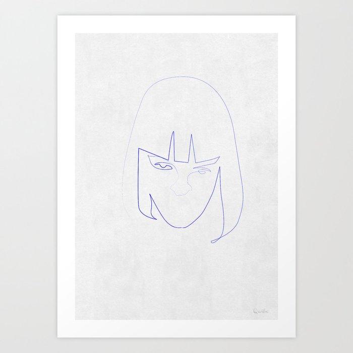 One Line Mia Wallace Art Print
