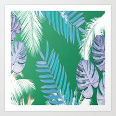 PALMS PRINT Green Art Print