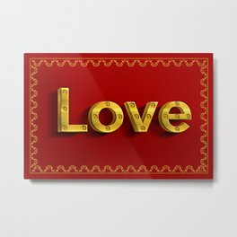 LOVE Artier Metal Print