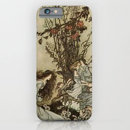 """Dancing With the Fairies"" by Arthur Rackham iPhone Case"