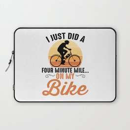 Biker Cycling Sport for Mountain Cyclist Laptop Sleeve