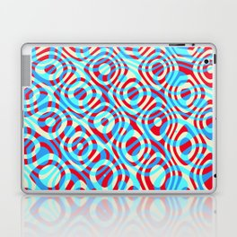 Mixed Polyps Red Blue - Coral Reef Series 035 Laptop & iPad Skin