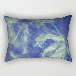 Abstract Smoke in Blue Rectangular Pillow