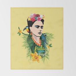 Frida goes to Brazil! Throw Blanket