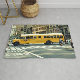 New York school bus Rug