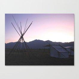 Twilight Tipi Canvas Print