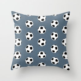 Soccer pattern great decor print for nursery boys or girls rooms sports theme Throw Pillow