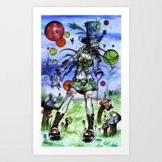 Teaparty Z Art Print
