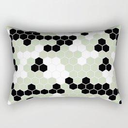 Honey Comb Light Green Geometric Pattern | Home Decor Rectangular Pillow