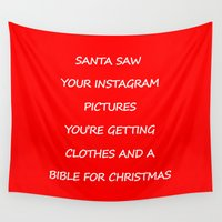 instagram Wall Tapestries featuring Christmas - Instagram by Rothko