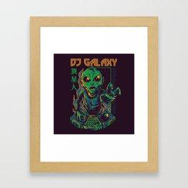 Dj Galaxy Illustration Framed Art Print