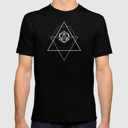 DnD D20 Dice Geeky Minimalist Dungeons and Dragons T-shirt