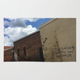Stop being boring brick wall Alabama Rug
