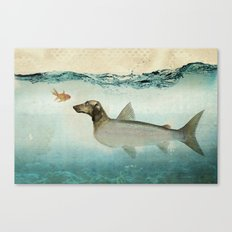 Dog Fish Canvas Print