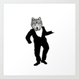Dancing Wolf Art Print