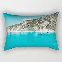 Greece beach paradise Rectangular Pillow
