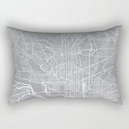 Washington Map, Dc USA - Pewter Rectangular Pillow