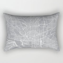 Washington Map, Dc USA - Pewter Rectangular Pillow