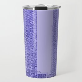 Marina Towers - Chicago - Purple Travel Mug