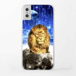 Grumpy Lion Clear iPhone Case