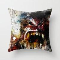 gorilla Throw Pillows featuring Gorilla by Ed Pires